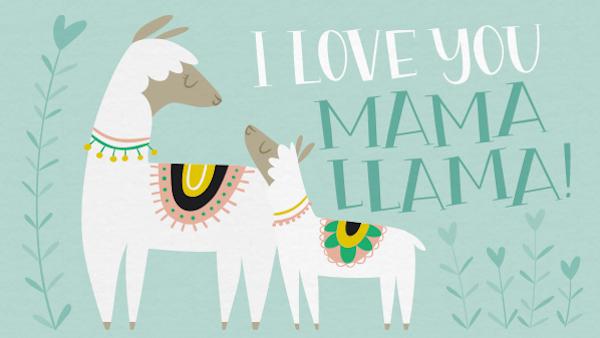 Llama Mama Baby Shower Evite