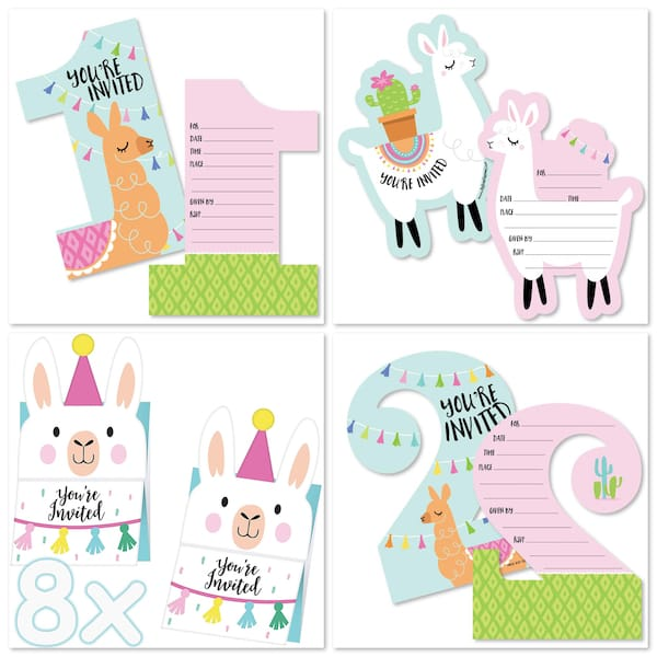 Llama Party Fill-In Invitations