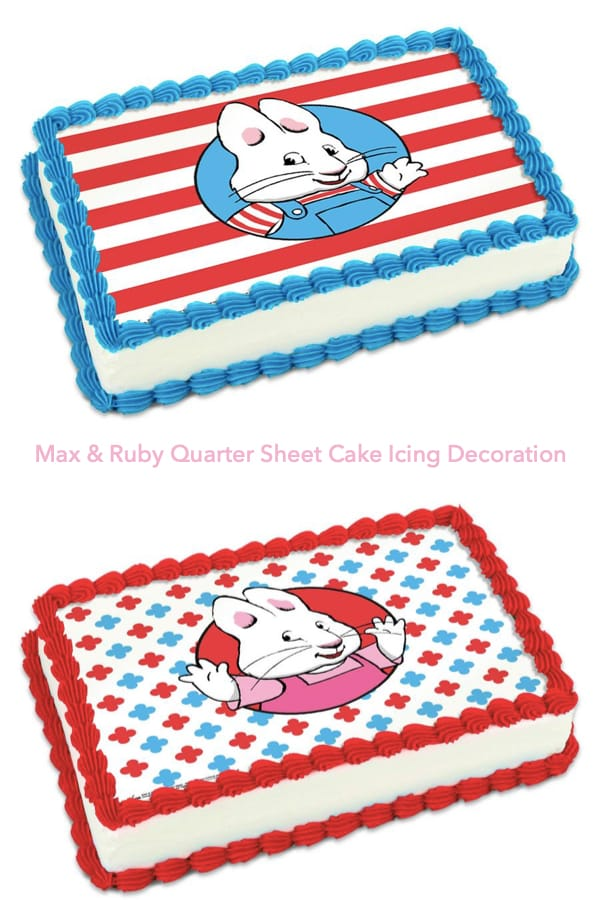 Max & Ruby Quarter Sheet Cake Icing Decoration