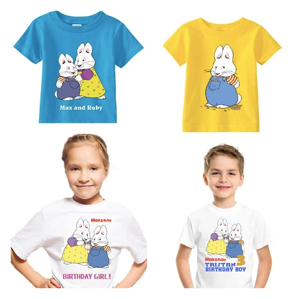 Max and Ruby Kids Birthday T-Shirts