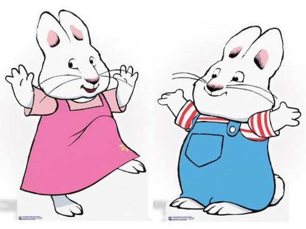 Max and Ruby Life-Sized Cardboard Cutouts