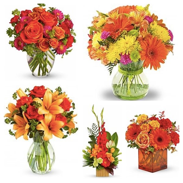Orange Outburst Party Flowers