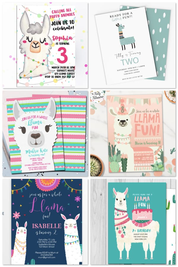 Printable Llama Llama Birthday Party Invitations