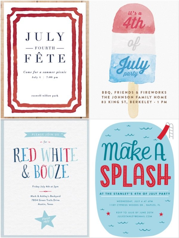 4th of July Invites
