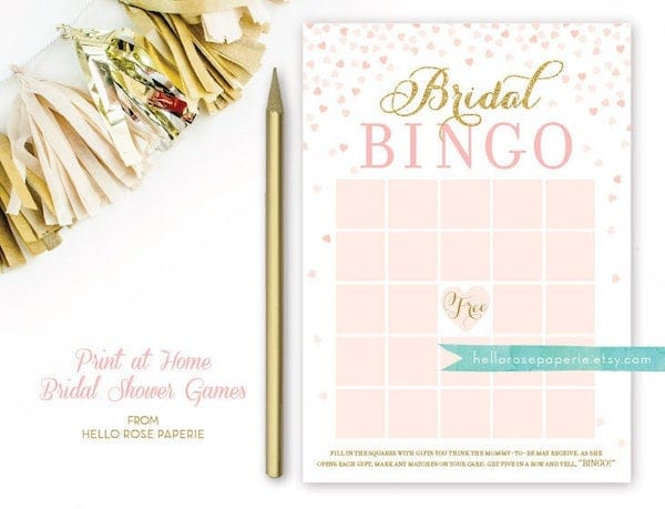 Bridal BIngo