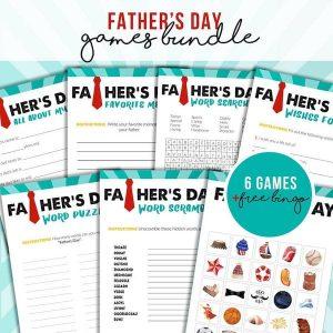Printable Fathers Day Games Bundle