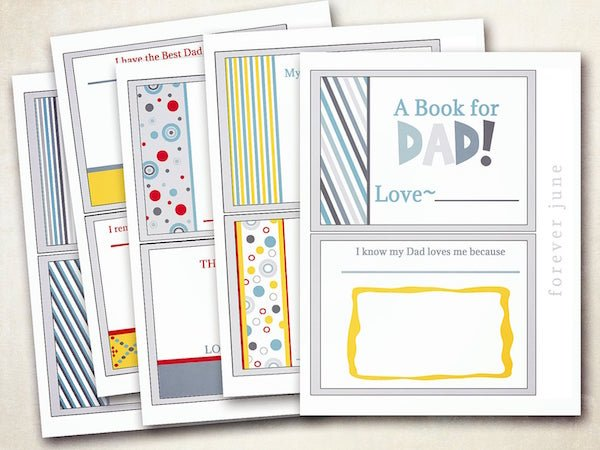 Printable Book For Dad