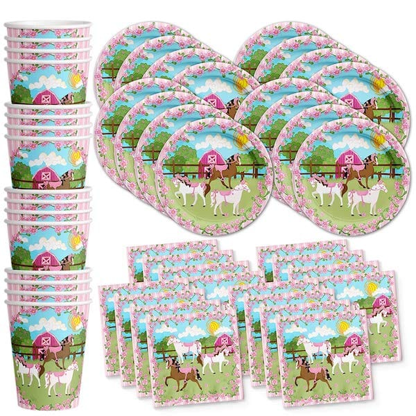 Lovely Pink Horse Birthday Party Supplies