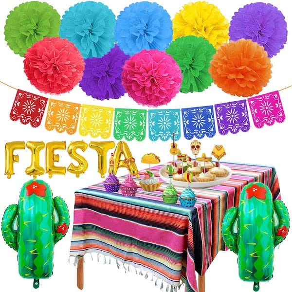 Papel Picado Banner Mexican Fiesta Theme Party Supplies