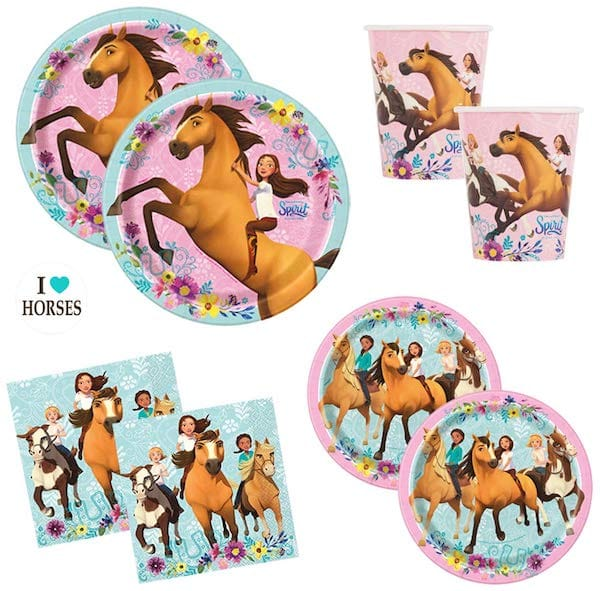 Spirit Riding Free Horse Birthday Party Supplies