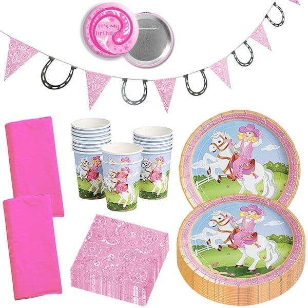 Wild West Pink Cowgirl Birthday Party Supplies