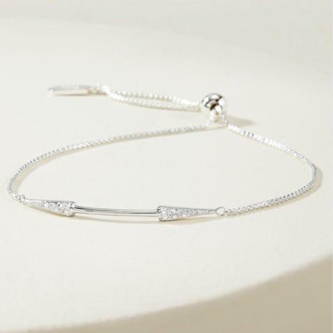 Warrior Double Arrow Bracelet - Silver