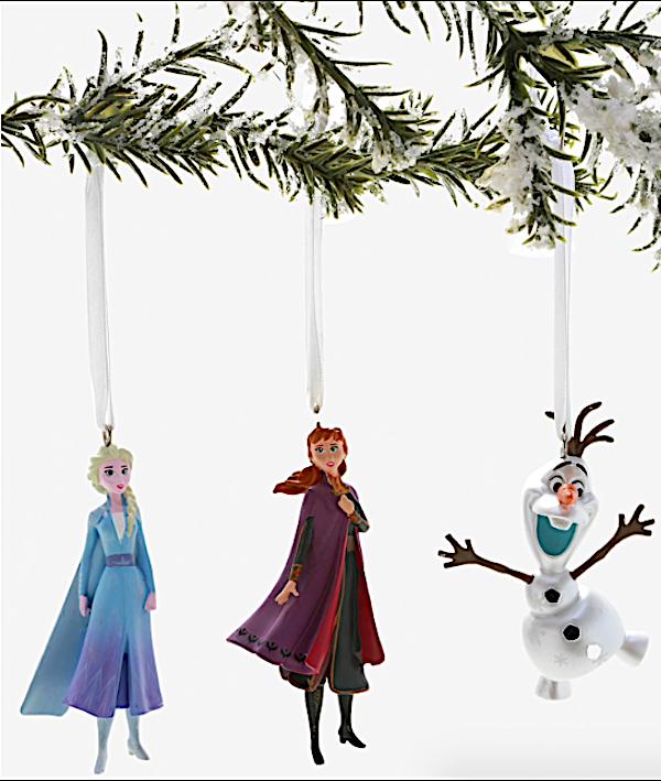 Disney Frozen 2 Elsa Anna and Ola Ornament Set