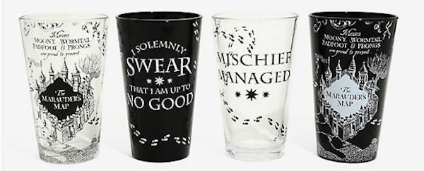 Harry Potter Pint Glass Set