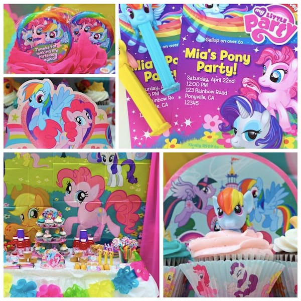 My Little Pony Party Planning, Ideas, and Supplies