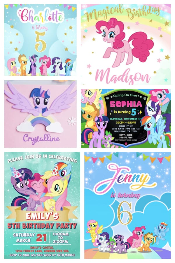 My Little Pony Party Invitations