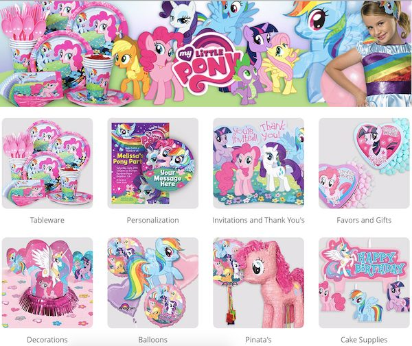 My Little Pony Party Supplies