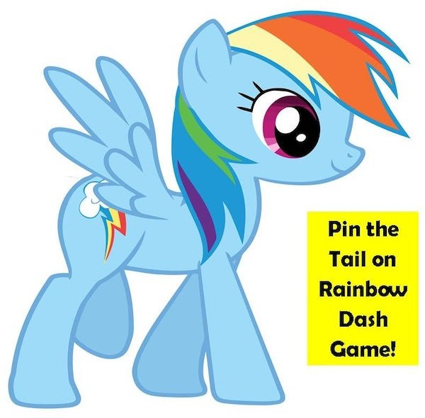 Pin the Tail on My Little Pony Game