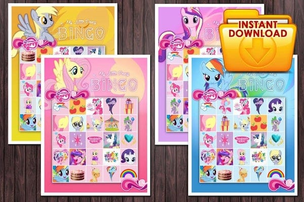 Printable My Little Pony Bingo