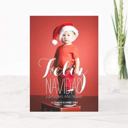 Feliz Navidad Spanish Holiday Greeting Card