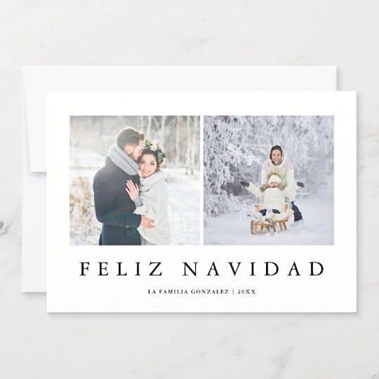 Feliz Navidad Spanish Modern Christmas Card