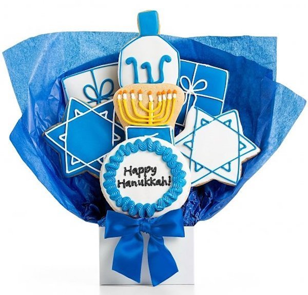 Happy Hanukkah Cookie Bouquet
