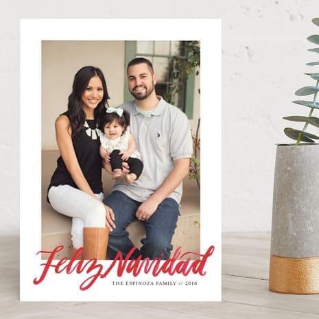 Lettered Feliz Navidad Holiday Photo Cards