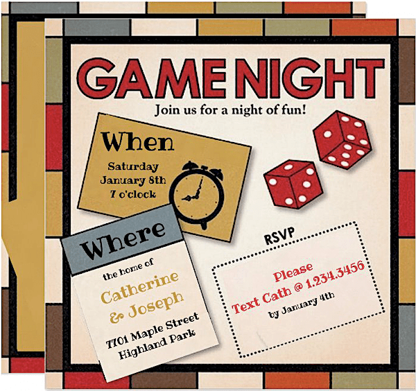 Fun Game Night Invitations