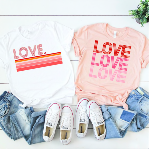 Mom and Me Valentine's Day Tee Shirts