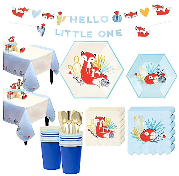 Baby Fox Baby Shower Supplies