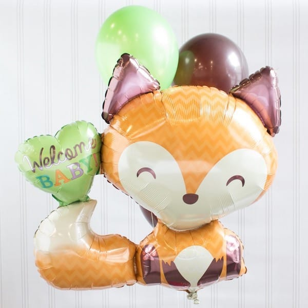 Fox Baby Shower Balloon Decor Kit