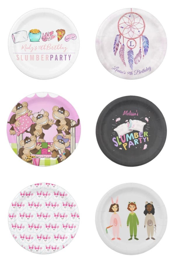 Slumber Party Paper Plates