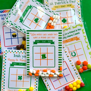 St. Patrick's Day Tic-Tac-Toe Game Cards