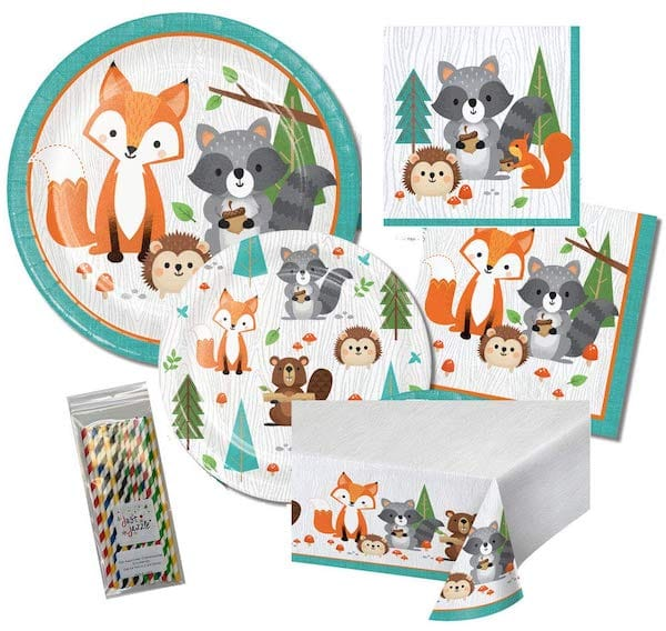 Wild One Woodland Animals Birthday Party Bundle