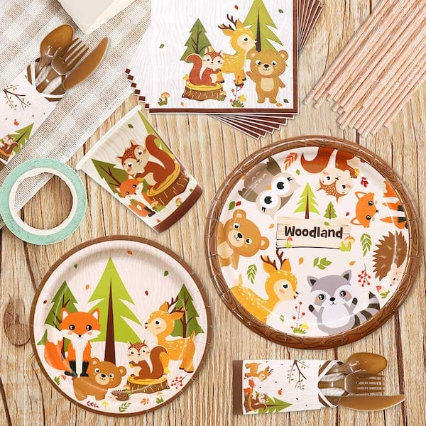 Woodland Animal Party Tableware Supplies