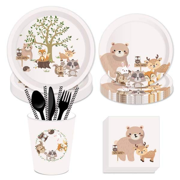 Let's Party Woodland Baby Shower Party Bundle