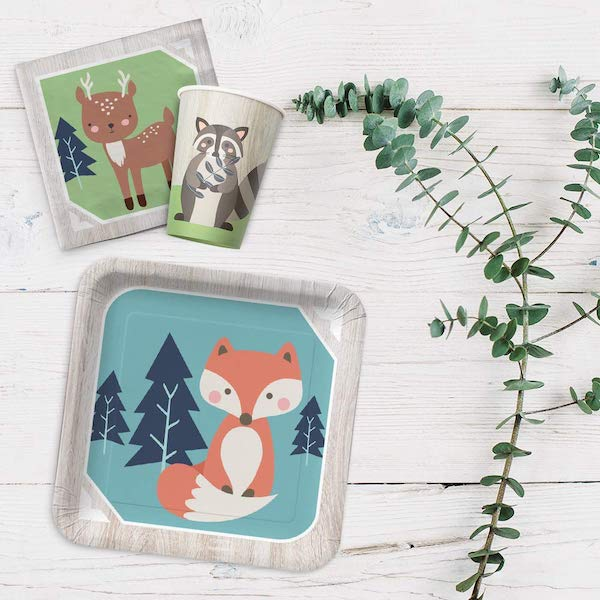 Woodland Baby Shower Tableware