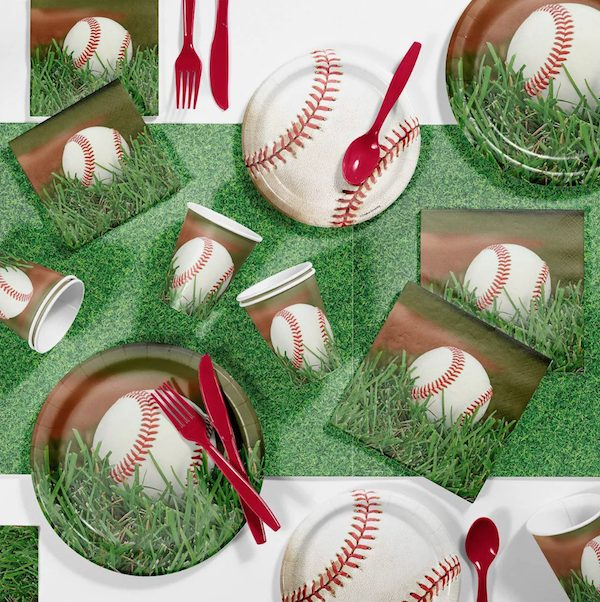 Baseball Theme Party Paper Goods Set