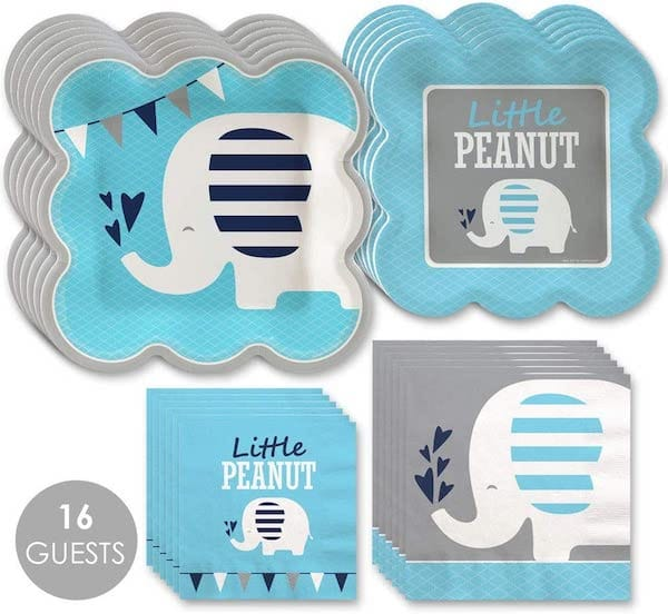 Blue and Gray Elephant Party Supplies