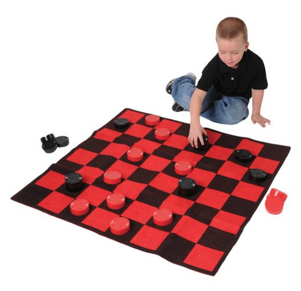 Checkerboard Rug Game Set