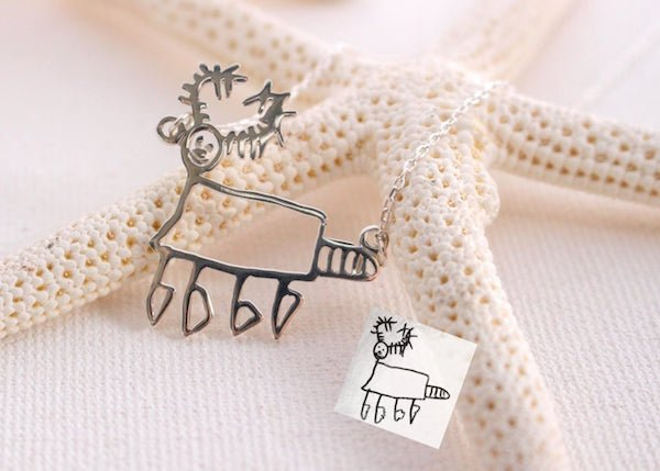 Childrens Drawing Necklace
