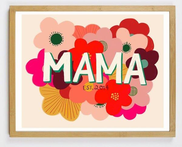Custom Mom Flower Art