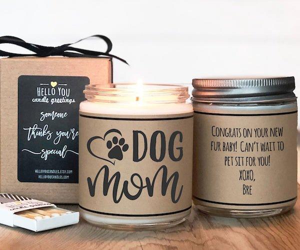 Dog Mom Gift Candle