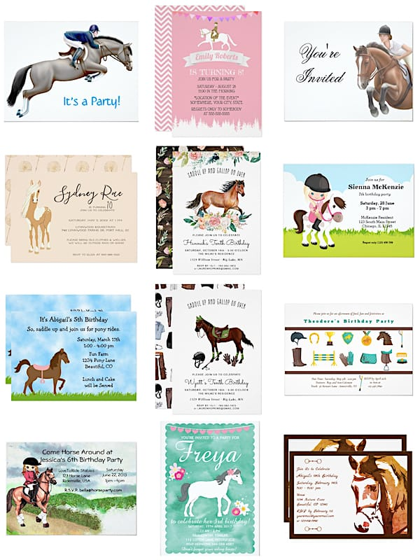 Equestrian Riding Party Invitations