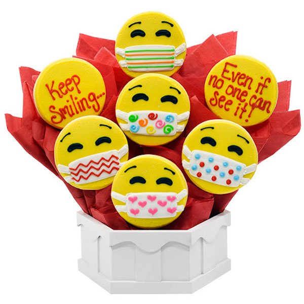 Keep Smiling Emoji Cookie Bouquet