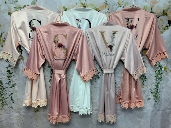 Lace Trim Bridesmaid Robes