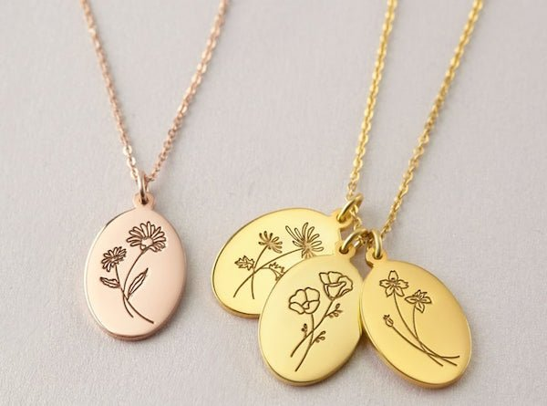 Mother Birth Flower Jewelry