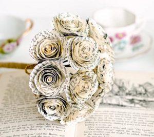 One Dozen Book Roses