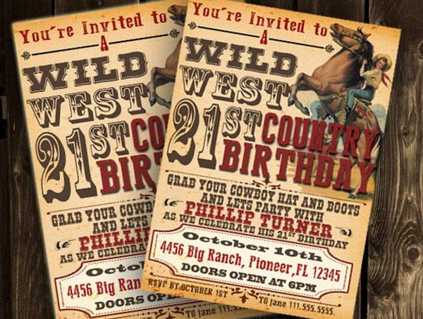 Printable Cowboy Party Invitation