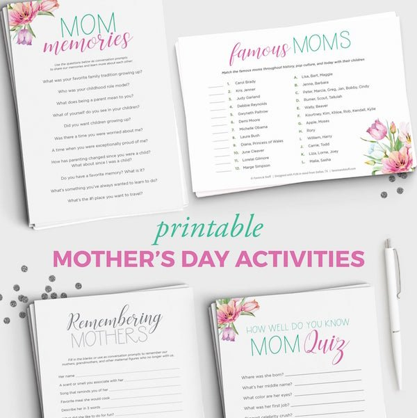 Printable Mothers Day Activities